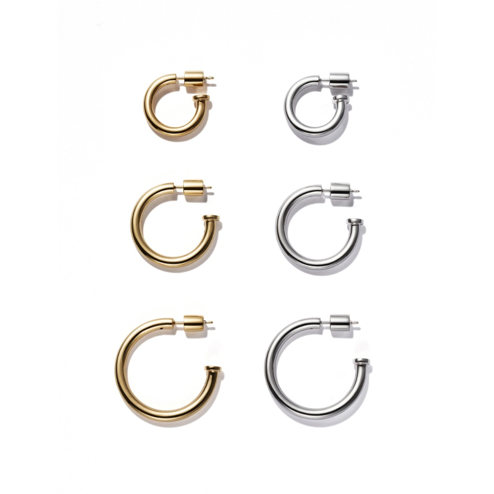 Basic Hoop Earring / Single(Plain)